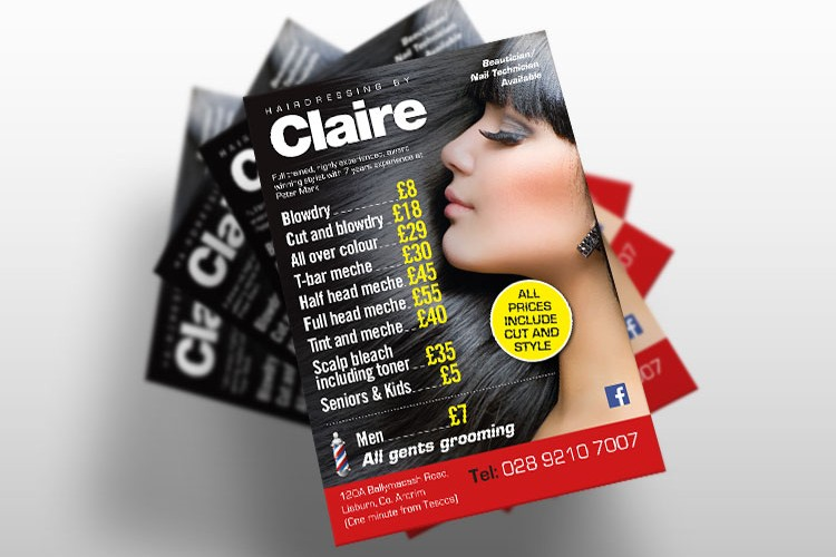 Hairdressing-by-Claire-Flyer